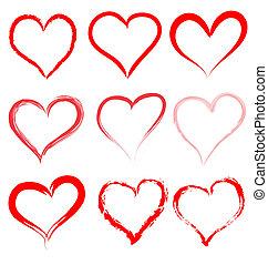 Valentinstag, rote Herzen Vektor, Herz valentine