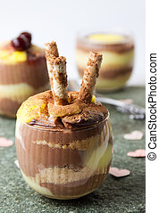 vanille, pudding, selbstgemacht, kakau