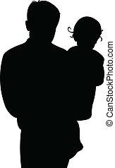 Vater und kleines Mädchen zusammen