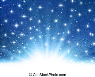 Vector Abstract funkelndes hellblaues Licht.