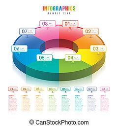 Vector abstrakt 3d Pie Chart infographics