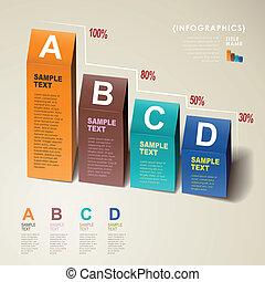 Vector abstrakte 3d Diagramm Infographics.