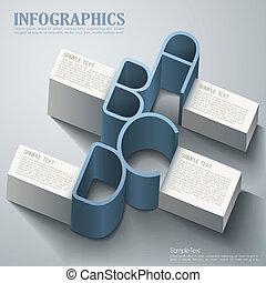 Vector abstrakte 3d Infographics.