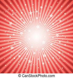 Vector, abstrakter Hintergrund des roten Sterns