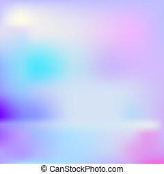 Vector abstrakter hologrpahischer Hintergrund, Regenbogenfarben.