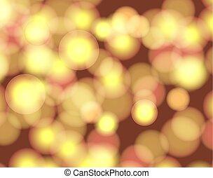 Vector abstrakter verschwommener Hintergrund, glänzende Illustration, hellgelb glänzende Kulisse, Kreise.
