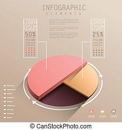 Vector Abstraktion 3d-Pie-Chart infographics