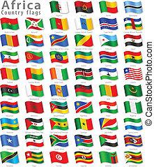 Vector afrikanischer Nationalflagge