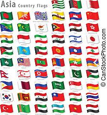 Vector asian National Flag gesetzt