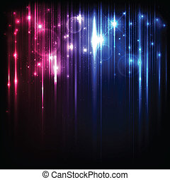 Vector Hintergrund mit hellen magischen Lichtern und Sternen