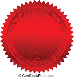 Vector Illustration des roten Siegels.