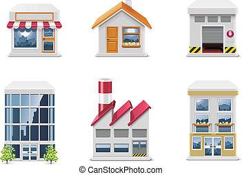 Vector Immobilien-Ikonen. P.1