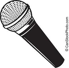 Vector klassisches Mikrofon
