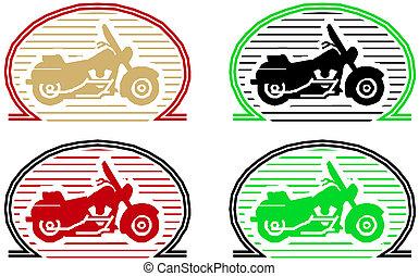 Vector klassisches Motorrad-Icon-Set