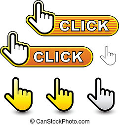 Vector-Klick-Hand-Cocksor-Etiketten