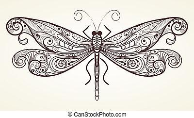 Vector Libelle mit einzigartigem Muster