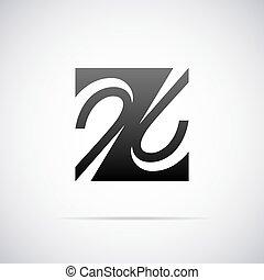 Vector Logo für Buchstabe Z.