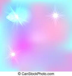 Vector Magic farytale Hintergrund, süße Kulisse, hellblau und rosa.