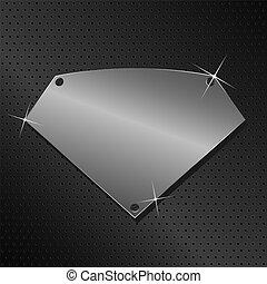 Vector Metallschild.