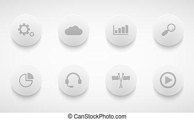 Vector moderne Technologiekreis Icons gesetzt.