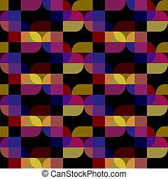 Vector nahtlos abstraktes schwarzes Muster.