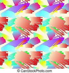 Vector nahtlose Malmuster, Hintergrund, Pinselstriche abstrakte Hintergrund.