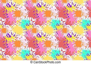 Vector nahtloses Muster, Farbspritzen, leicht abstrakter Hintergrund.
