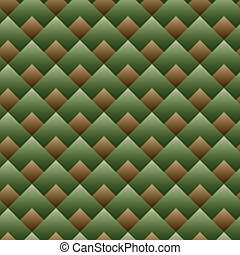 Vector - nahtloses Quadratmuster, grünes Set