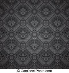 Vector nahtloses schwarzes Muster