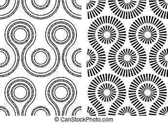 Vector Schwarzweiß nahtlos abstraktes Muster.