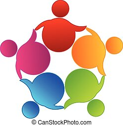 Vector Teamwork Business Logo.
