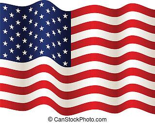 Vector USA Flagge