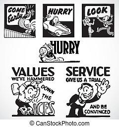 Vector Vintage-Werbungszeichen