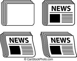 Vector wevy Zeitungspapier, schwarze Symbole