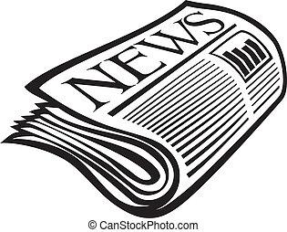Vector Zeitungsausdruck