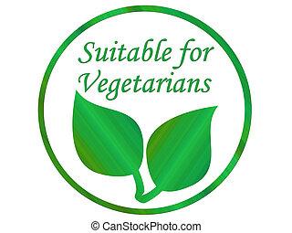 vegetarier, blatt