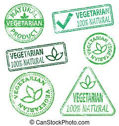 vegetarier, briefmarken