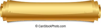 vektor, abbildung, gold, rolle