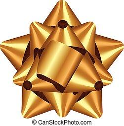 vektor, abbildung, goldbogen