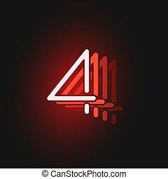 vektor, abbildung, zeichen, schwarz, schriftart, hintergrund, rotes , reflexionen, neon