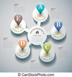 Vektor abstrakt 3d Infographics