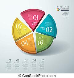 Vektor abstrakte 3d Chart-Infographics