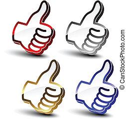 Vektor, beste Auswahl, Handzeichen