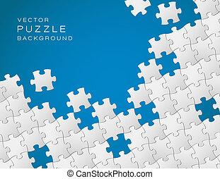 Vektor-Blue-Hintergrund aus weißen Puzzlestücken