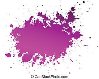 vektor, farbe, spritzen, hintergrund, abbildung