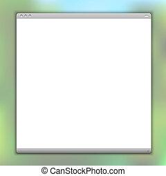vektor, fenster, browser, einfache