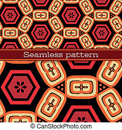 Vektor geometrisches nahtloses Muster