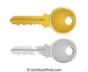 Vektor Illustration des Schlüssels