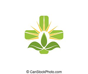 vektor, natur, gesundheit, logo