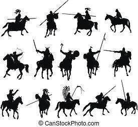 Vektor-Pferde bereit